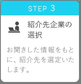 STEP3 紹介先企業の選択