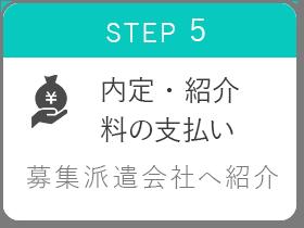STEP5 内定・紹介料の支払い